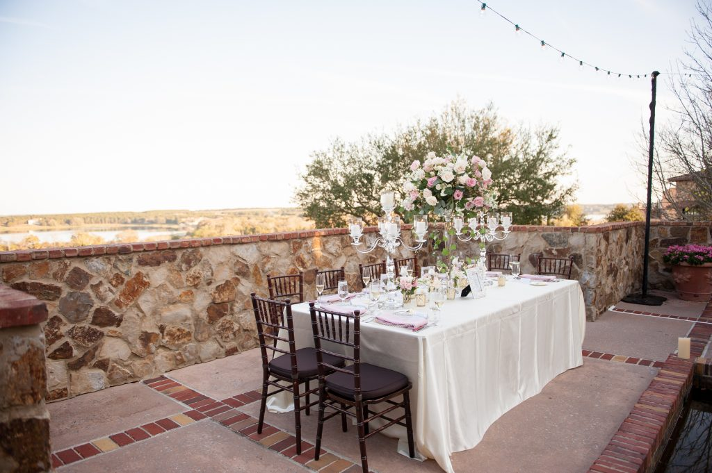 Reception table | Classic Pink and White Wedding Bella Collina Kathy Thomas Photography Anna Christine Events