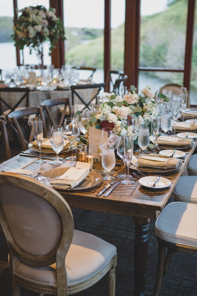 Table settings at reception | Rustic Chic Wedding Romantic Ashley Jane Photography Streamsong Resort Florida Orlando Wedding Planner Anna Christine Events