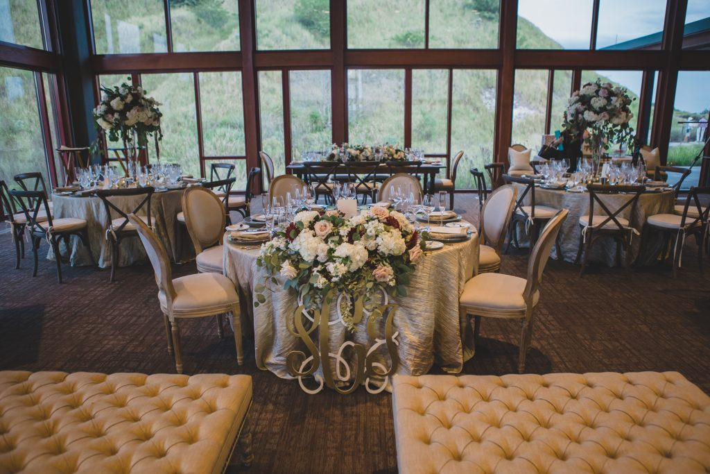 Reception tables | Rustic Chic Wedding Romantic Ashley Jane Photography Streamsong Resort Florida Orlando Wedding Planner Anna Christine Events