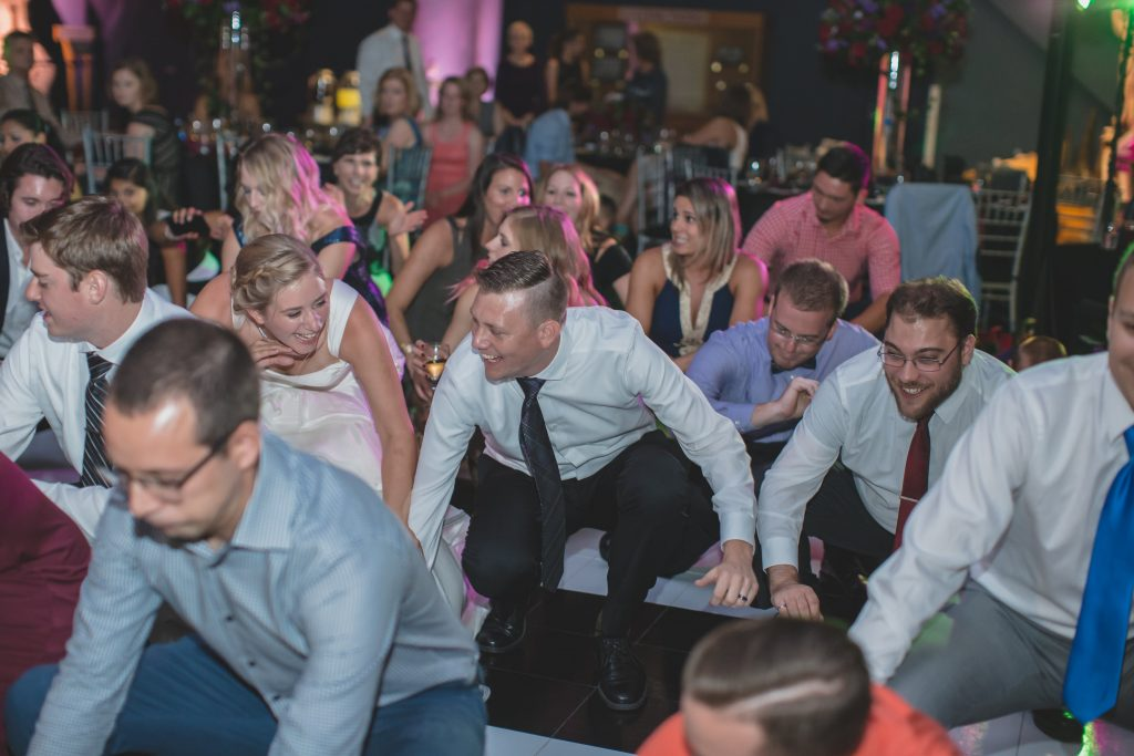 Bride & groom dancing at reception | Nerd Geek Chic Wedding Theme Game of Thrones Harry Potter Super Mario Orlando Science Center Anna Christine Events Orlando Wedding Planner Ashley Jane Photography