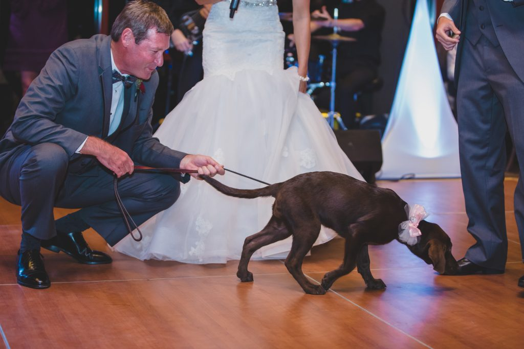 Bride's father with dog | Rustic Chic Wedding Romantic Ashley Jane Photography Streamsong Resort Florida Orlando Wedding Planner Anna Christine Events