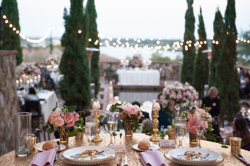Reception sweetheart table | Classic Pink and White Wedding Bella Collina Kathy Thomas Photography Anna Christine Events