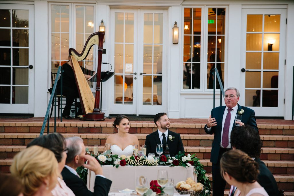 Bride & Groom Toast Reception | Romantic Red & White Capen House Wedding Geometric Gold Anna Christine Events J Lebron Photography