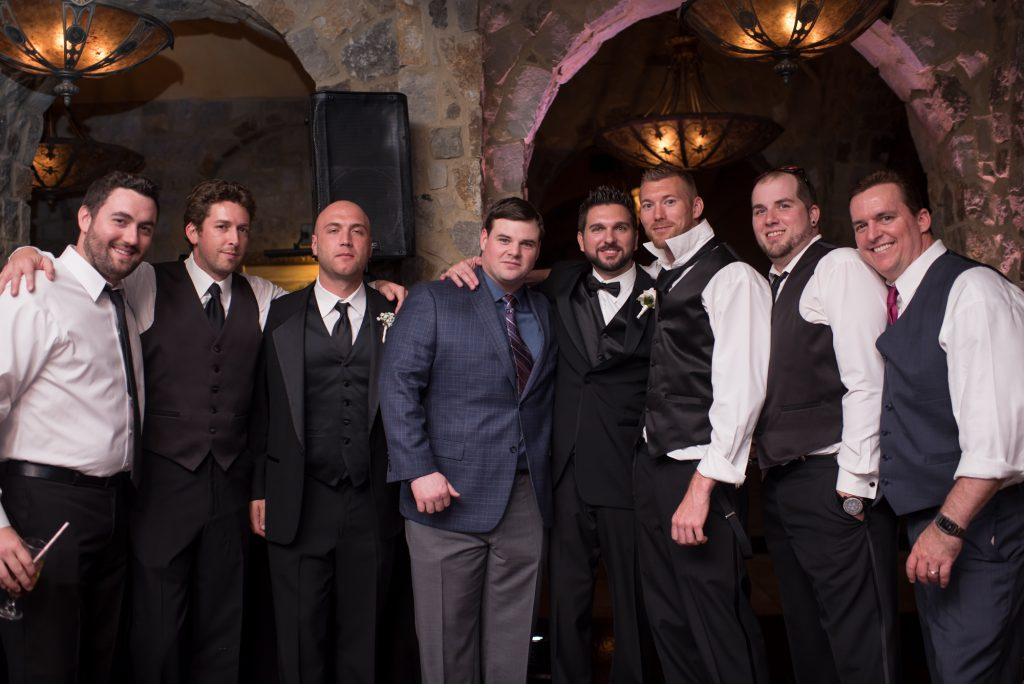 Groom & Groomsmen | Classic Pink and White Wedding Bella Collina Kathy Thomas Photography Anna Christine Events