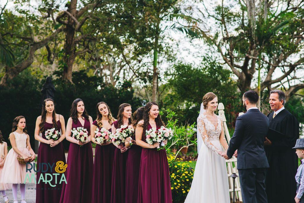 Burgundy & White Wedding Winter Park Orlando Florida Wedding Planner Anna Christine Events Capen House