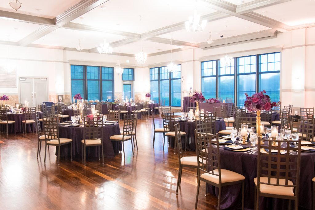 Tables reception | Classic Purple & White Wedding Photography Noah's Event Venue Orlando Florida Anna Christine Events Wedding Planner Jessica Leigh