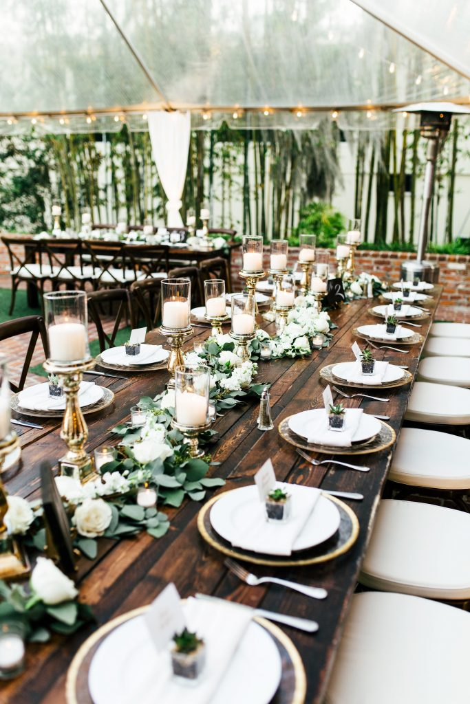 Rustic Chic Blue & Gold Wedding Casa Feliz Orlando Florida Wedding Planner Anna Christine Events Tara Libby Photography