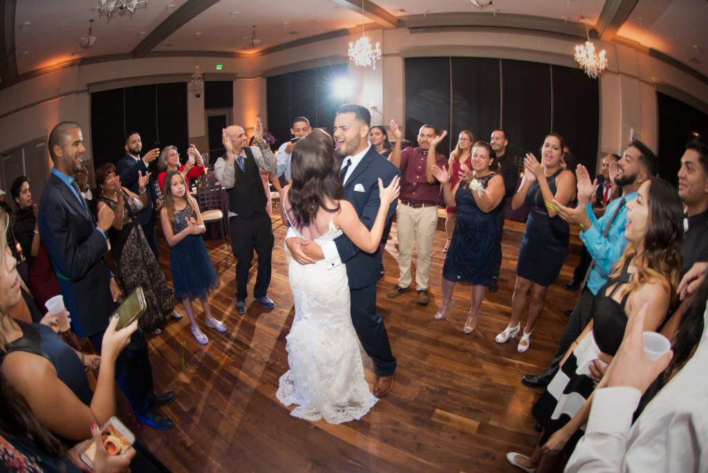 Bride & groom final dance | Classic Purple & White Wedding Photography Noah's Event Venue Orlando Florida Anna Christine Events Wedding Planner Jessica Leigh