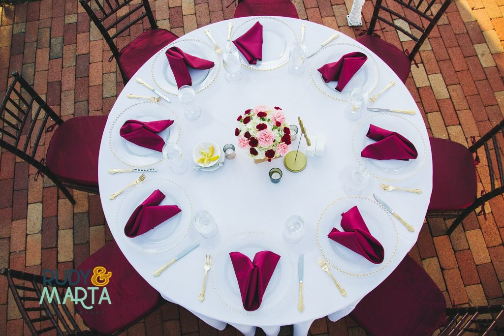 Burgundy & White Wedding Winter Park Orlando Florida Wedding Planner Anna Christine Events Capen House
