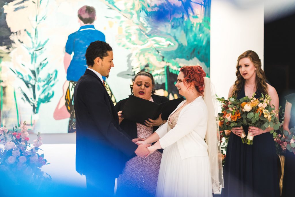 Fun Florida Orange Wedding Colorful Orlando Museum of Art Orlando Wedding Planner Anna Christine Events