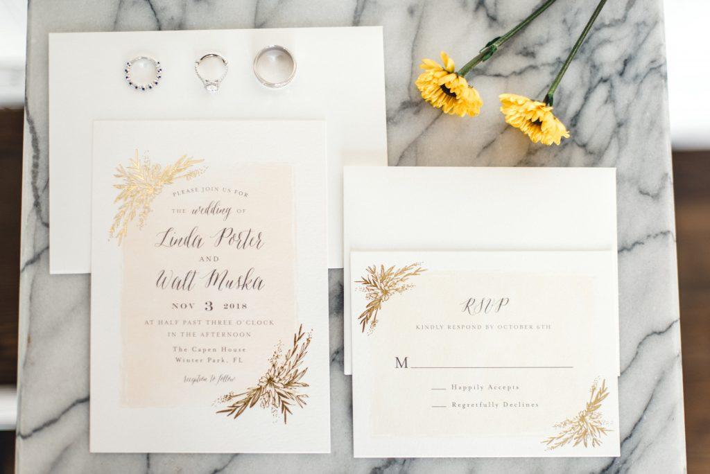 Yellow Sunflower Wedding Capen House Orlando Wedding Planner Anna Christine Events